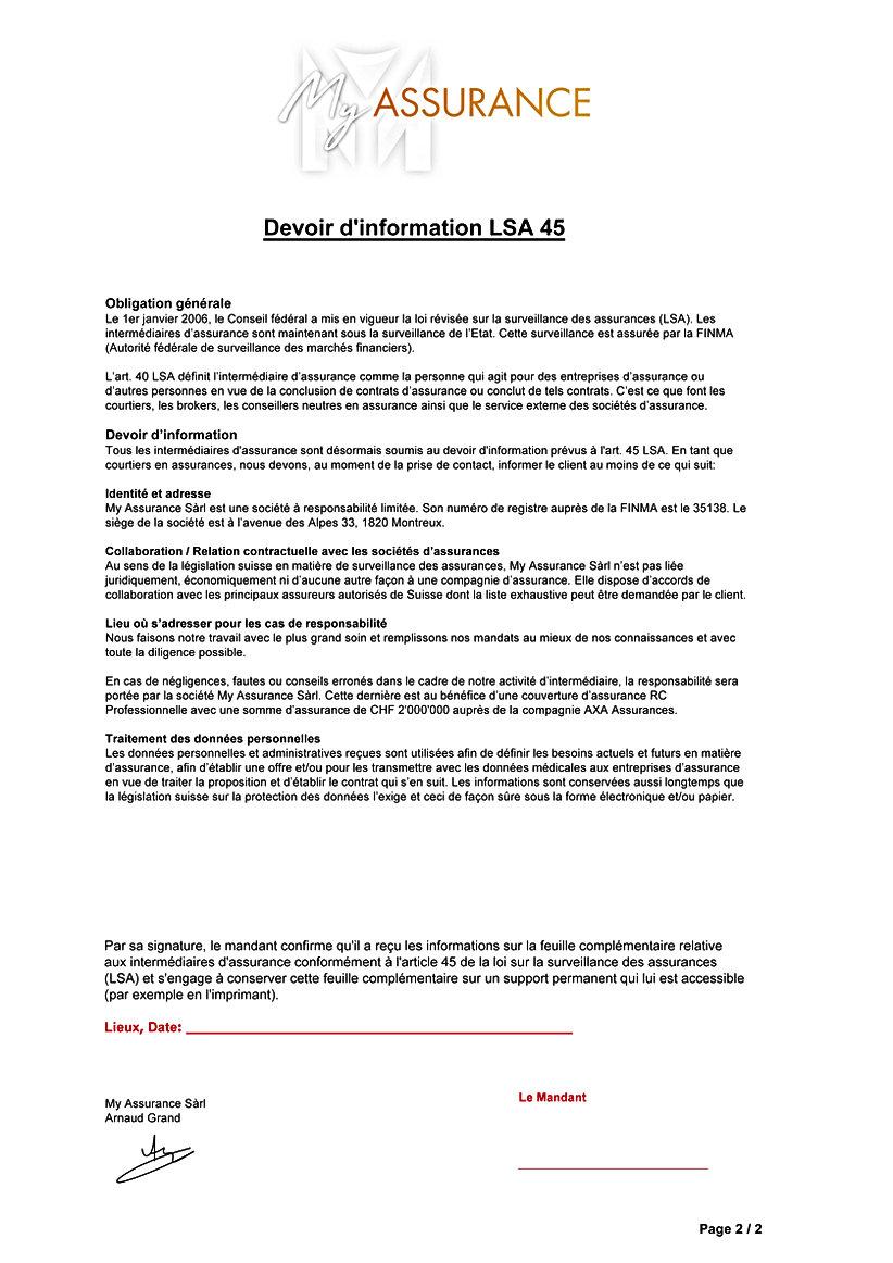 LSA 45 My Assurance particulier