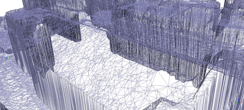 Wireframe model from drone imagery