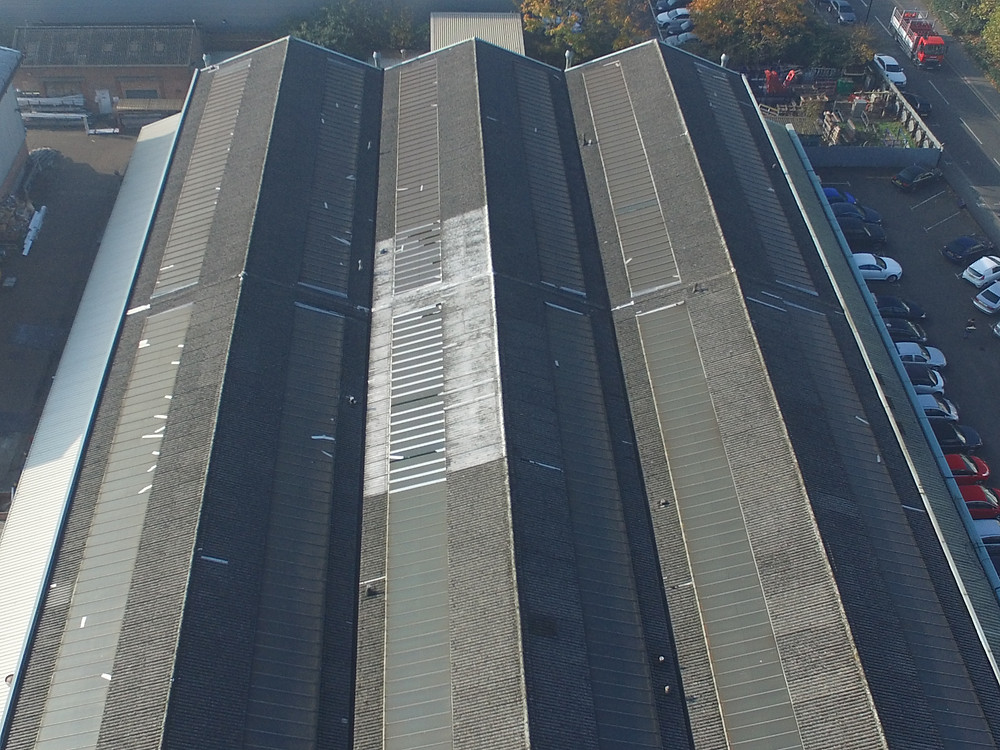 Industrial unit roof inspection