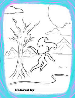 Who do you think the winds friends are? Color the wind how you want, then give the Wind some friends!