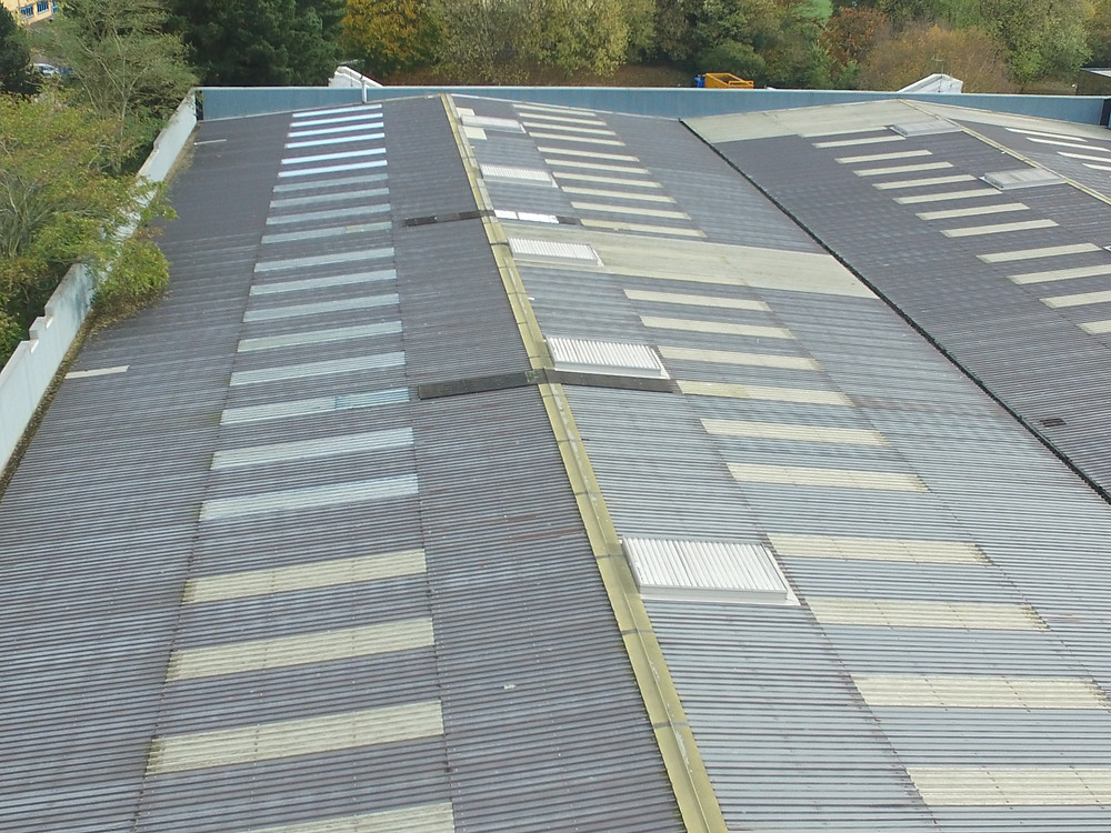 Commercial roof aerial inspection