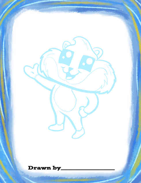 What do you want Sammy to be? Draw Sammy how you want, then color him in!