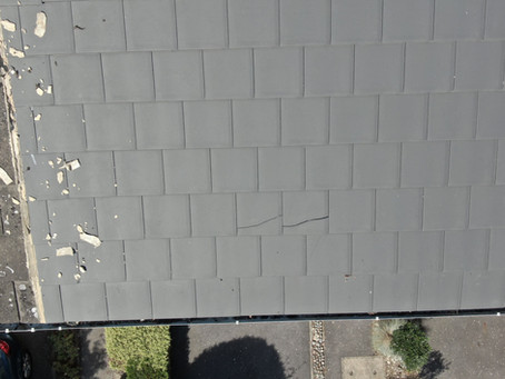 Drone roof inspection identifies major faults