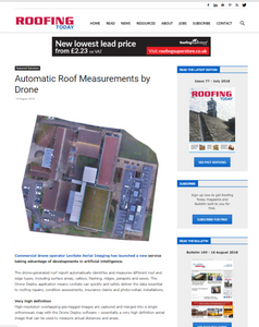 Levitate Aerial Imaging featured in Roofing Today