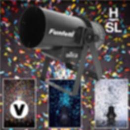 HSL Chaivet Funfetti Confetti cannon wit