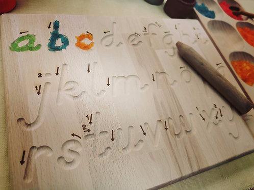 Tracing Board Buchstaben Klein
