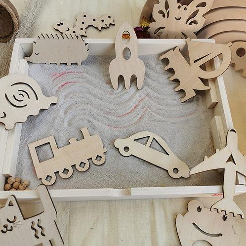 Sandkämme / Sandformen 12er Set