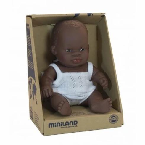 Miniland Afrikanisches Mädchen 21 cm