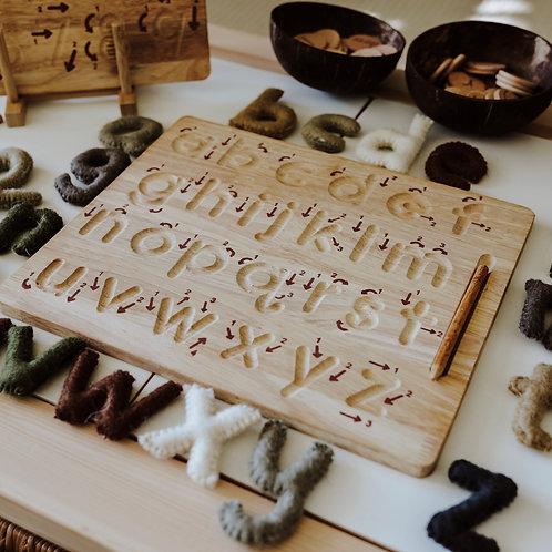 Tracing Board Alphabet klein inkl Stift und Gravur