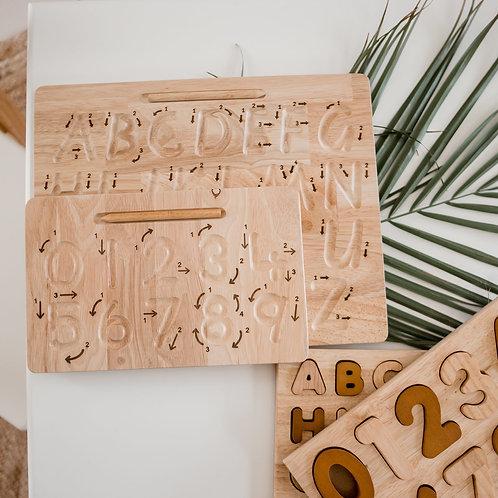 Tracing Board Zahlen inkl Stift und Gravur