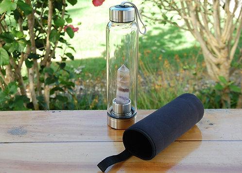 Rainbow Flourite Crystal Water Bottle (1 available)