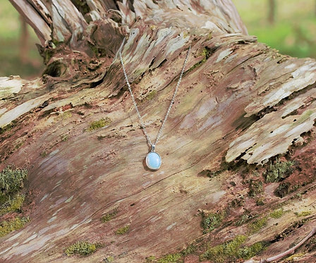 Moonstone Oval Pendant Necklace