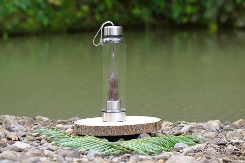 Smoky Quartz Crystal Elixir Water Bottle