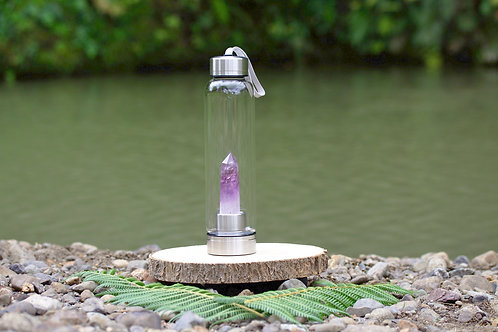 Amethyst Crystal Elixir Water Bottle