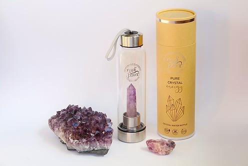 Amethyst Crystal Elixir Water Bottle (Stainless Steel)