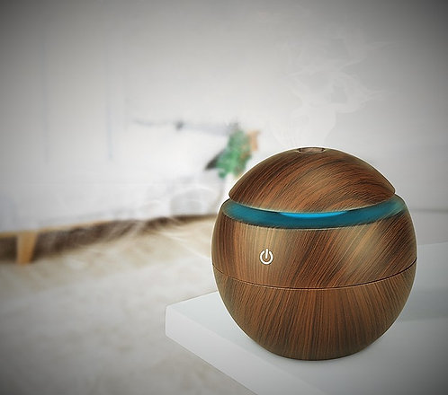 Small USB Touch Switch Diffuser - Dark Wood