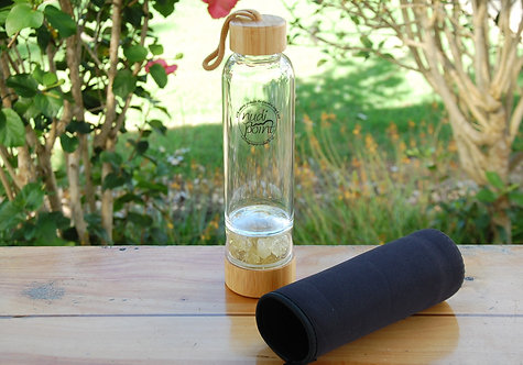 Citrine Bamboo Crystal Water Bottle (1 available)