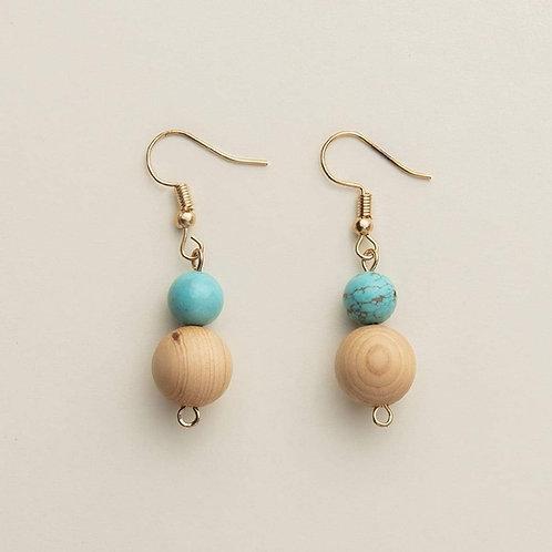 """""""Peace"""" Diffuser Stone Earrings"""