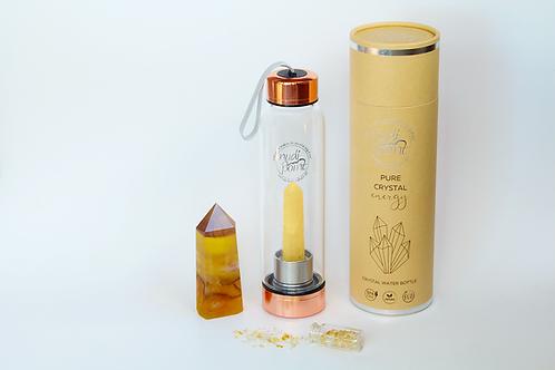 Citrine Crystal Elixir Water Bottle (Copper)