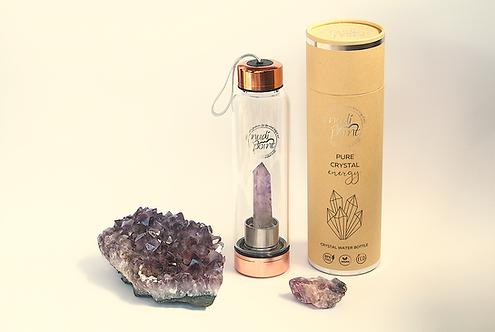 Amethyst Crystal Elixir Water Bottle (Copper)