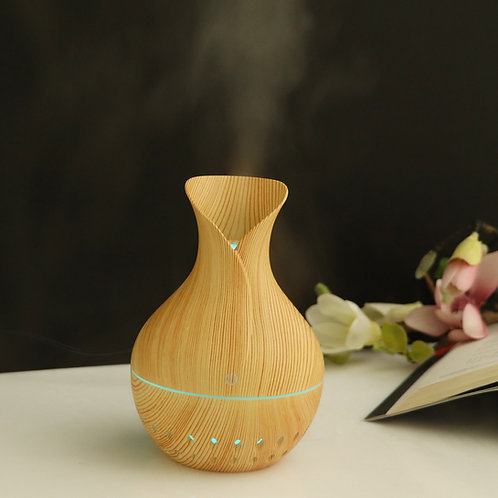 "Small ""Flower Vase"" USB Diffuser - Light Wood"