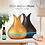 """Thumbnail: Large """"Tulip"""" Diffuser with remote - Light Wood"""
