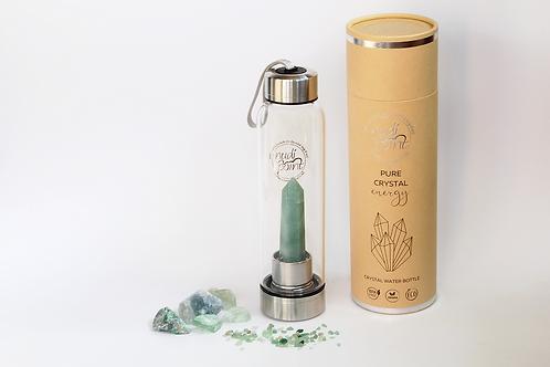 Green Aventurine Crystal Elixir Water Bottle (Stainless Steel)