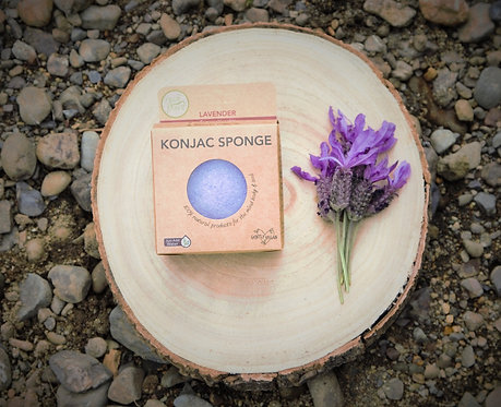 Lavender Konjac Sponge (for sensitive skin)