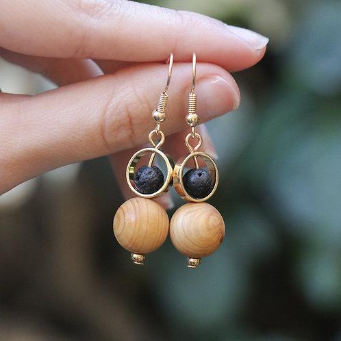 """""""Elements"""" Lava Stone Earrings"""