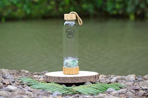 Rainbow Flourite Crystal Bamboo Water Bottle