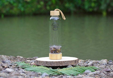 Tigers Eye Crystal Bamboo Water Bottle