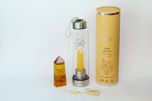 Citrine Crystal Elixir Water Bottle (Stainless Steel)
