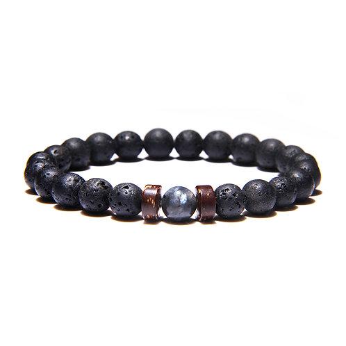Men's Lava Stone & Labradorite Bracelet