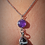 Thumbnail: Amethyst Lava Stone Necklace