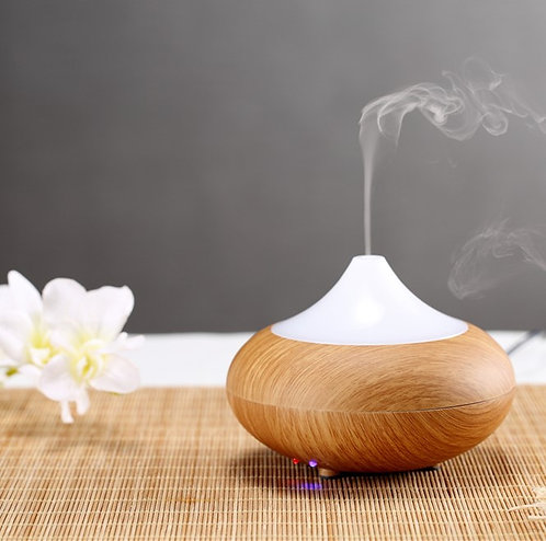Essential Oil Ultrasonic Diffuser - Light Wood (A)