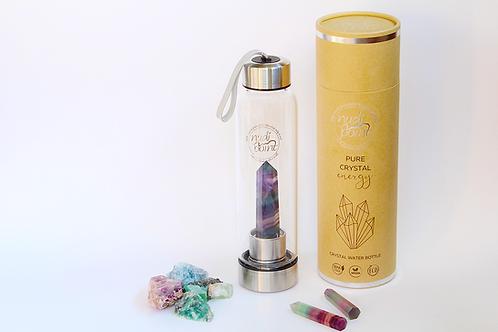 Rainbow Flourite Crystal Elixir Water Bottle (Stainless Steel)