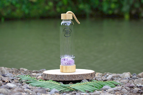 Amethyst Crystal Bamboo Water Bottle