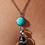 Thumbnail: Turquoise Lava Stone Necklace