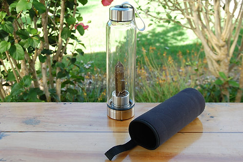 Smoky Quartz Crystal Water Bottle (1 available)