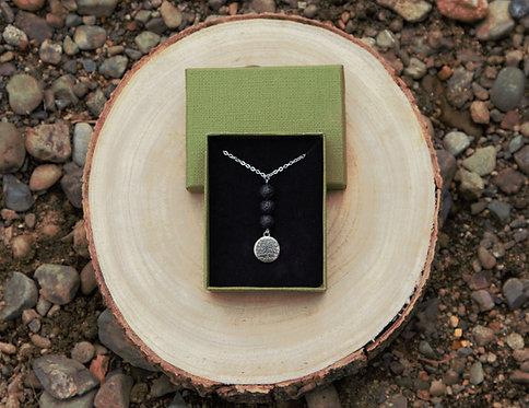 Tree of Life Lava Stone Necklace
