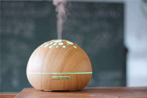 Large Round Wood Grain Oil Diffuser (Light Wood)