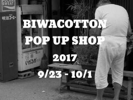 BIWACOTTON POP UP SHOP 開催決定‼︎
