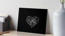 Rose minimale noire