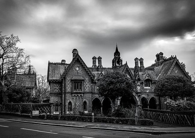 House under gloomy sky - Highgate