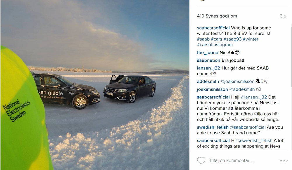 Who's up for some winter tests? NEVS Instagram