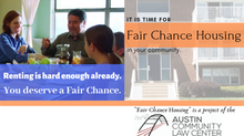 "Launching ""Fair Chance Housing,"" for housing rights after a conviction."
