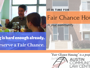 """Launching """"Fair Chance Housing,"""" for housing rights after a conviction."""