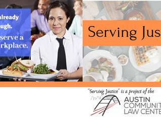 """Launching """"Serving Justice,"""" for workers' rights in the restaurant industry."""
