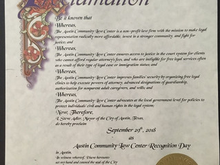 """Austin Community Law Center """"Recognition Day"""""""