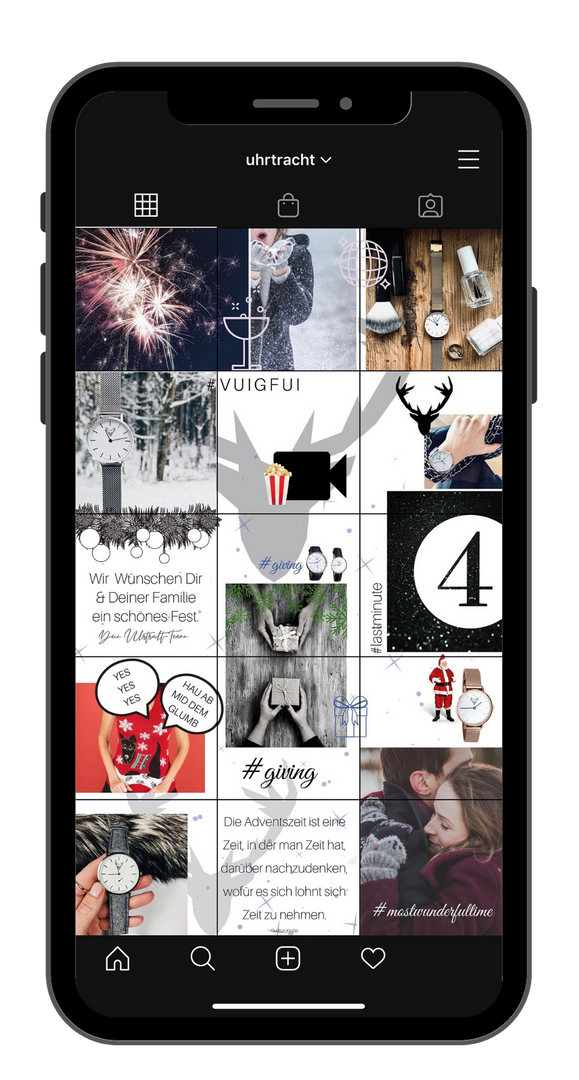 Instagram Puzzlefeed Adventsaktionen